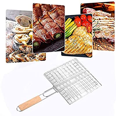 Grill Baskets Foldable Barbecue Grilling Basket...