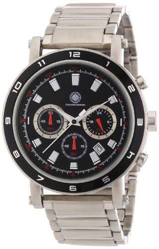 Constantin Durmont Herren-Armbanduhr XL Matador Chronograph Quarz Edelstahl CD-MATA-QZ-ST-STST-BK
