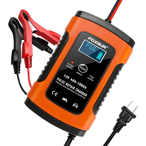 YONHAN Car Battery Charger Automotive 12V 5A Smart Battery Maintainer Trickle Charger for Car Boat...