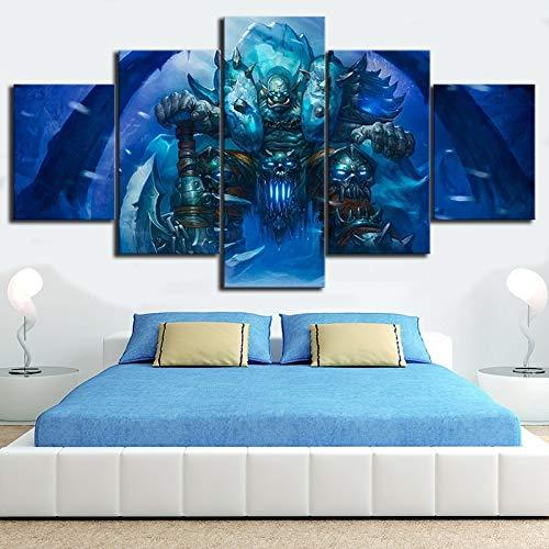 5 Stück World Game Poster Death Knight Hearthstone Wandbild für Wohnkultur(size 3)