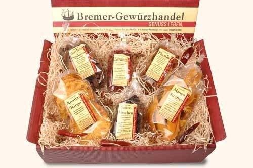 Genuss-Box Geschenksets Trockenfrüchte, sauer macht lustig, Früchtebox, 6 Tlg. - Bremer Gewürzhandel