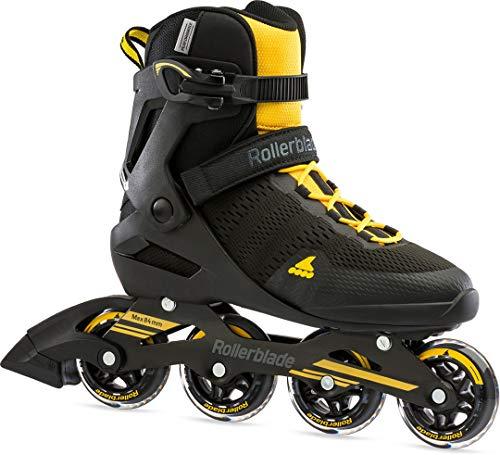 Rollerblade Spark 80 Inline Skate 2021 Black/Saffron Yellow, 45
