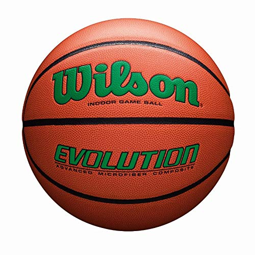Wilson Sporting Goods Official, Size 29.5, Green Wilson Evolution Indoor Game Basketball