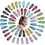 50 pcs Pinza de Pelo para Multicolor,10 Colores 3CM Clips Pelo Niñas Pelo Horquillas de Metal Orquillas Pelo Mini Clip para Pequeños Niños Bebés Mujeres