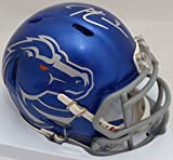 Demarcus Lawrence Autographed Boise State Broncos Blue Speed Mini Helmet Beckett BAS