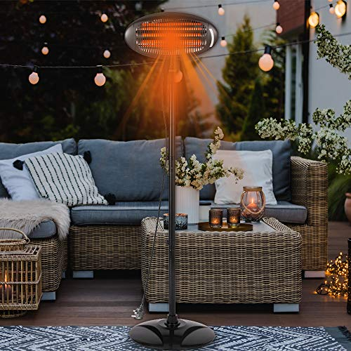 2000W Electric Garden Patio Heater CE Approved Infrared Outdoor Quartz 2KW...