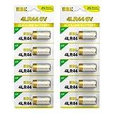 EBL 10-Pack Bark Collar Batteries 6V Alkaline Battery for Dog Collars 4LR44, PX28A, A544, K28A, V34PX