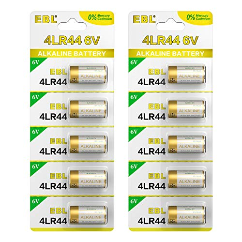 EBL 10-Pack Bark Collar Batteries 6V Alkaline Battery for Dog Collars 4LR44, PX28A, A544, K28A, V34PX
