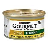 Purina Gourmet Gold Húmedo Gato paté con Verduras con Pollo, Zanahorias y calabacines, 24 latas de 85 g Cada una de Las 24 Unidades de 85 g