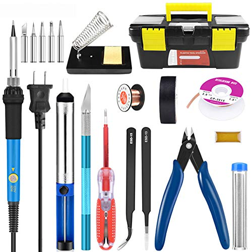 Review Of AIZYR Soldering Iron Kit with Solder, Electric Iron Set Set Thermostat Adjustable Pyrograp...