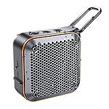 Portable Bluetooth Speaker, IPX7 Wireless Shower Bluetooth Speaker V5.0 with 10W Loud Stereo HD-Sound, Built-in Mic, FM Radio, TF Card, 12H Playtime, Shower Speaker for Phone, iPad, Mac, (Orange)