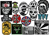 HUGE 14 PC PUNK BAND PATCH SET   Dead Kennedys   Misfits   The Vandals   Anarchy   AFI   SUBHUMANZ   Sex Pistols   Metal Skull TOP QUALITY: High Thread Count Embroidery EASY TO USE: Sew On / Iron On GREAT FOR: Hats, Quilts, Jackets and Vests WIDE VAR...