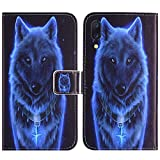 TienJueShi Wolf Flip Book Stand Brieftasche Leder Tasche