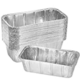 Thick Aluminum Loaf Pans (30 Pack, 8 x 4 Inches) | 2 Lb. Mini Baking Pans for Bread, Lasagna, Meatloaf, Cake | Heavy Duty Disposable Oven Bake Tin for Cooking & Food Storage