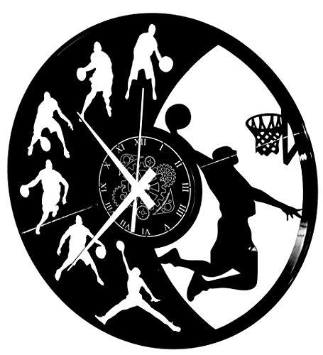 Reloj de pared de vinilo Vintage Handmade Amueblar Hogar Oficina Sport NBA...