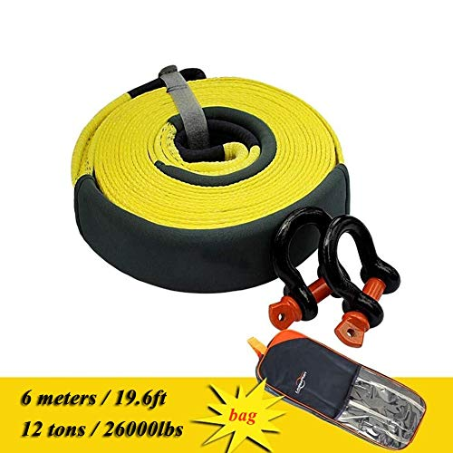 Purchase Gjjtcd Tow Strap Car Rescue Belt Heavy Tow Rope with 2 Hooks 6M/19.6ft Traction Rope 12 T/2...