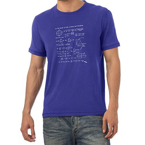 Nexxus The Answer to Everything - Herren T-Shirt, Größe S, Marine