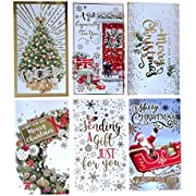 12 Assorted Traditional Christmas Money Envelopes Gift Card Voucher Wallet