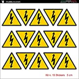 15 pegatinas de peligro eléctrico de corriente de...