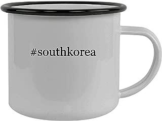 #southkorea - Stainless Steel Hashtag 12oz Camping Mug, Black