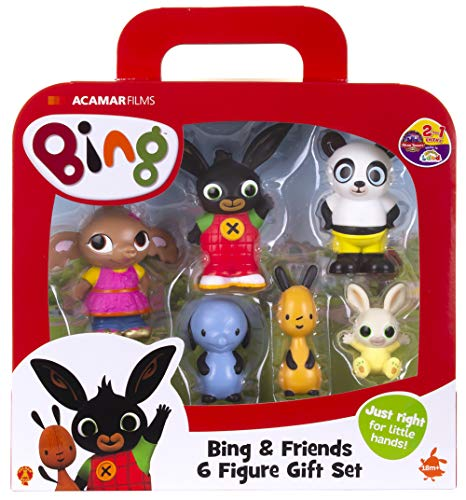 Bing-& Friends 6 Figura de Regalo, Color Set (Golden Bear