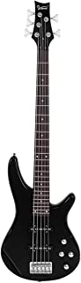 $176 » temi Glarry GIB Electric 5 String Bass Guitar Full Size Bag Strap Pick Connector Wrench Tool Black-188