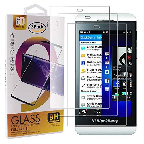 Guran 3 Pezzi Pellicola Protettiva in Vetro Temperato per Blackberry Z10 Smartphone 9H Durezza Anti-Impronte HD Alta Trasparenza Pellicola