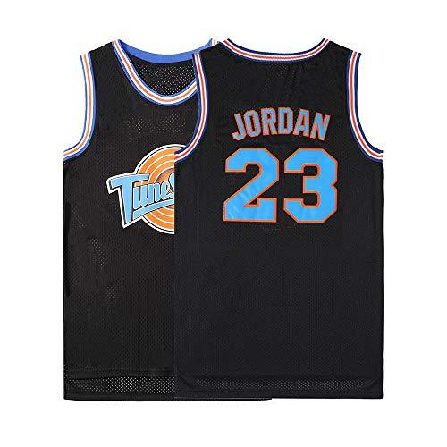 WELETION Película Espacial Camiseta de Juego de Baloncesto de Jersey de tamaño de Hombre# 23 Jordan Negro L