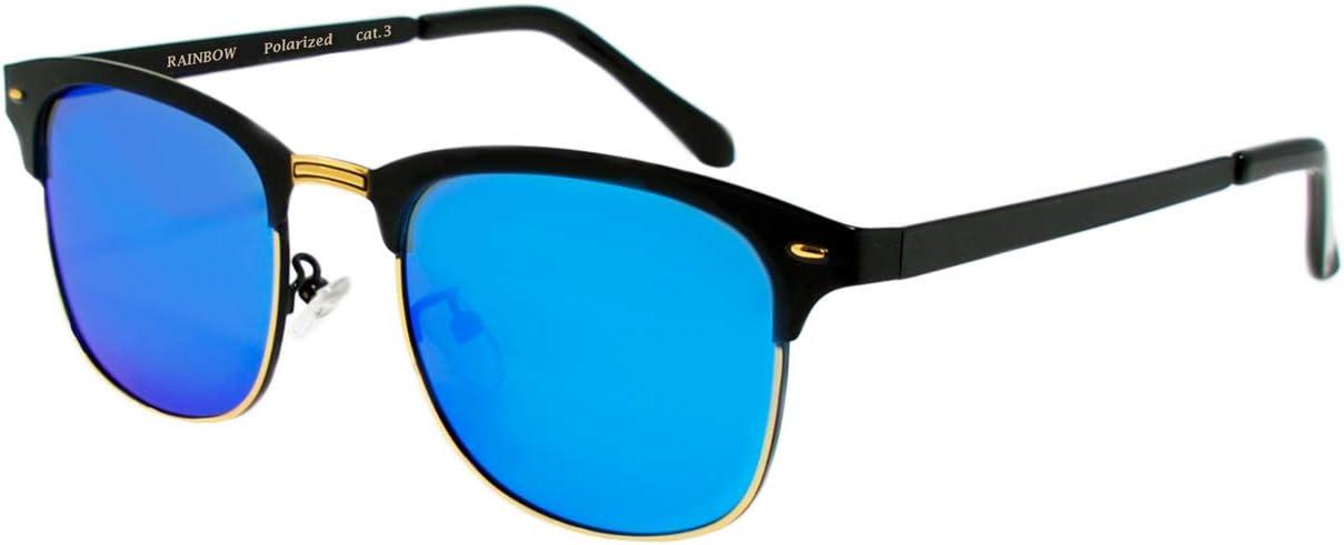 Rainbow Safety Herren Damen Sonnenbrille Auto Brille Nachtsichtbrille Polarisierte Gläser Rwnp4 Blau Spiegel Cat 3 Sport Freizeit