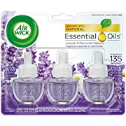 Air Wick plug in Scented Oil 3 Refills, Lavender & Chamomile, (3X0.67oz), Essential Oils, Air Freshener