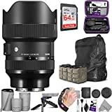 Sigma 14-24mm f/2.8 DG DN Art Lens for Sony E Mount with Advanced Photo and Travel Bundle