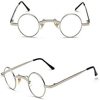 Traidemark Gafas de Don Estelle Aint de media caliente para mamá, pequeñas y redondas, color plateado con lentes transpare...