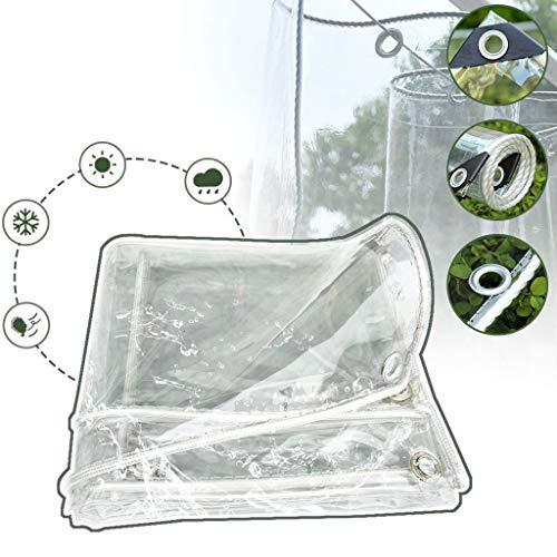 Transparente Plane, Plane Transparent Mit öSen, PVC Plastik Transparent Abdeckplane Regenplane Wasserdicht FüR GartenmöBel Balkon Regenschutz,1.6x4M