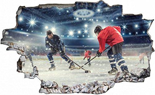 Eishockey Spielfeld Wandtattoo Wandsticker Wandaufkleber C0622 Größe 70 cm x 110 cm