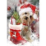 DIY 5D pintura de diamante, punto de cruz, diamantes de imitación completos, manualidades, decoración de la pared del hogar, regalos de Navidad, mascota perro de 40 x 50 cm