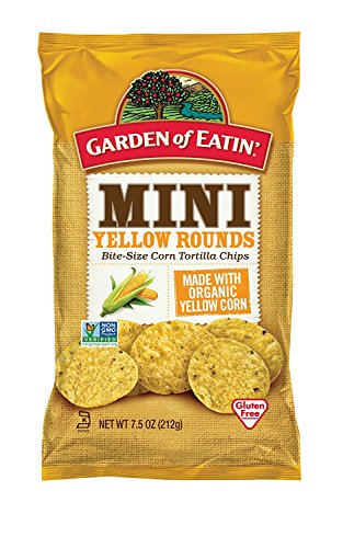 Garden of Eatin Corn Tortilla Chips, Mini Yellow Rounds, 7.5 Oz (Pack of 12) (Packaging May Vary)