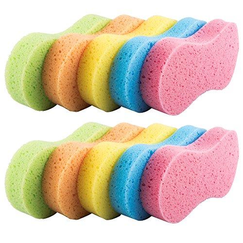 Benail - Esponjas multifuncionales para lavar el coche (10 unidades, multicolor con embalaje comprimido al vacío)