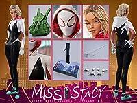 [Tbmodel] Bullet Head 1/6 フィギュア用 Miss Stacy ミス・ステイシー スパイダーウーマン 素体 ヘッド 服セット アクセサリー アクションフィギュア BH005
