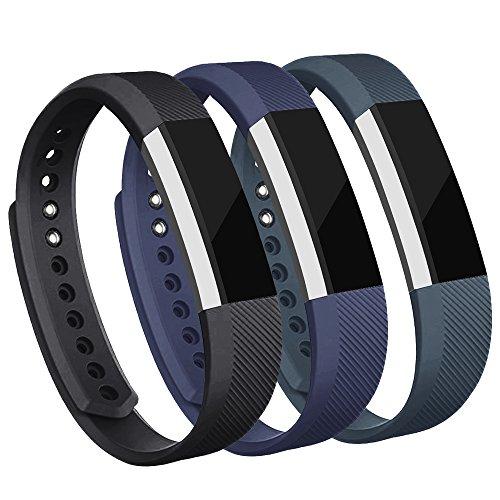 Adepoy Ersatzarmbänder kompatibel für Fitbit Alta/Alta HR, verstellbare Sport Smartwatch Fitness Armband für Frauen Männer Schwarz Marine Slate Klein