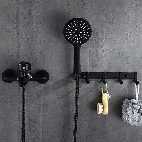 LHQ-HQ Europeo negro grifo de la ducha supercharged baño acero inoxidable hotel antiguo ducha conjunto delicado ducha