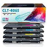 OFFICE HELPER CLT-P406C Cartuchos de Tóner Compatibles con Impresoras Samsung Printer Xpress CLP-360 CLP-360N CLP-365 CLP-365W CLP-368 CLX-3300 CLX-3305FN CLX-3305N CLX-3305FW C410W C460W C460FW