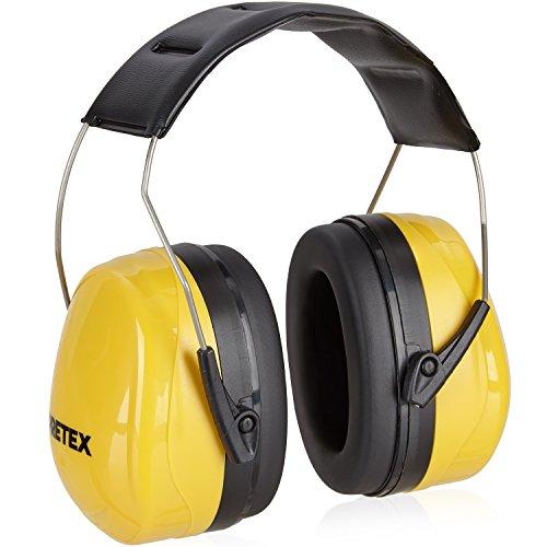 PRETEX Professioneller Kapselgehörschutz mit SNR 98 dB, hoher Tragekomfort, geringes Gewicht, stufenlos verstellbare Kopfbügel | CE-Zertifizierung | Gehörschutz, Ohrenschutz, Lärmschutz, Ohrenschoner