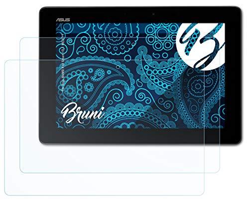 Bruni Schutzfolie kompatibel mit Asus MeMO Pad Smart 10.1 ME301T Folie, glasklare Bildschirmschutzfolie (2X)