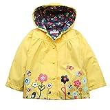 Arshiner 乳幼児/子ども 女の子用 耐水性フード付き コート・ジャケット アウトウェア レインコート フード付き US サイズ: 120(Age for 4-5Y) カラー: イエロー