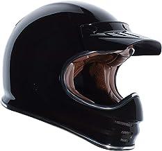 TORC Unisex-Adult T3 Retro Classic Full-Face Motorcycle Helmet (Gloss Black, Large)