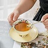 Taza de té de porcelana taza de café Set (amarillo)