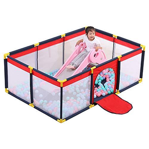 Stylo de jeu for bébé Toddler Stylo de jeu Porte de bébé Tapis de jeu for bébé avec barrière de lit de clôture for matériau PVC for bébé, hauteur de sécurité, facile à installer, facile à transporter