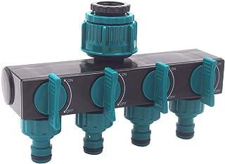 yeesport Garden Hose Splitter Heavy Duty 4-Way Tap Splitter Garden Hose Connector Faucet Splitter