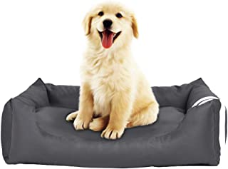Gluckluz Pet Bed Cat House Dog Kennel Sofa Lounger Detachable Soft Nest Pad Mat for Indoor Outdoor Outside Sleep Sleeping ...