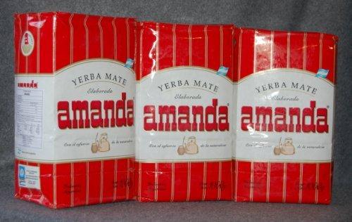 Yerba Mate Amanda - 3 bags of 2.2 Lbs each - 3...